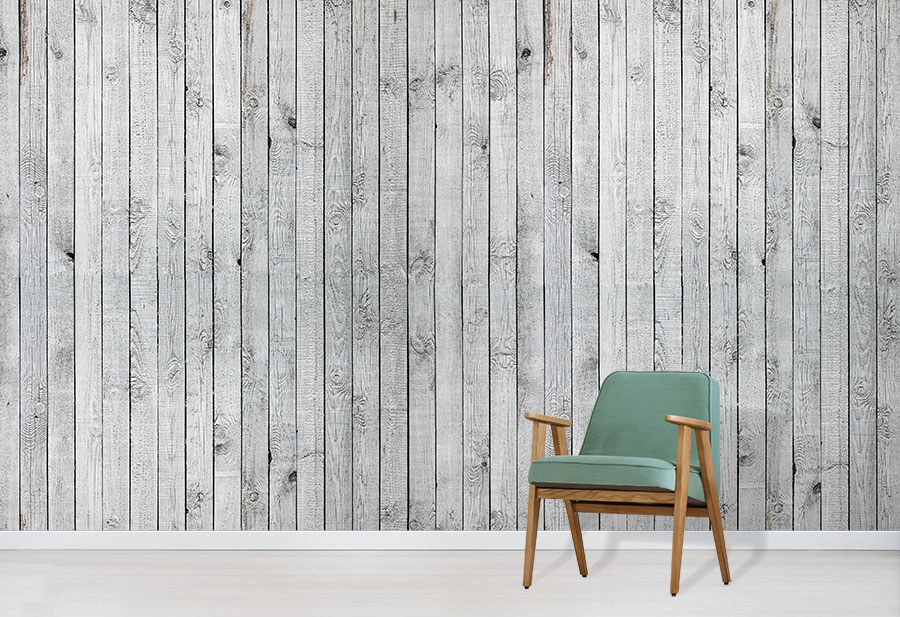 Silver Wood by Wallpapered