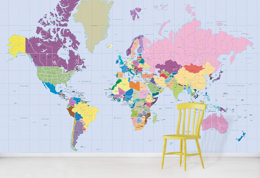 Vibrant World Map