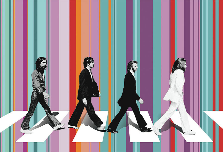 Beatles Abbey Road Wall Mural