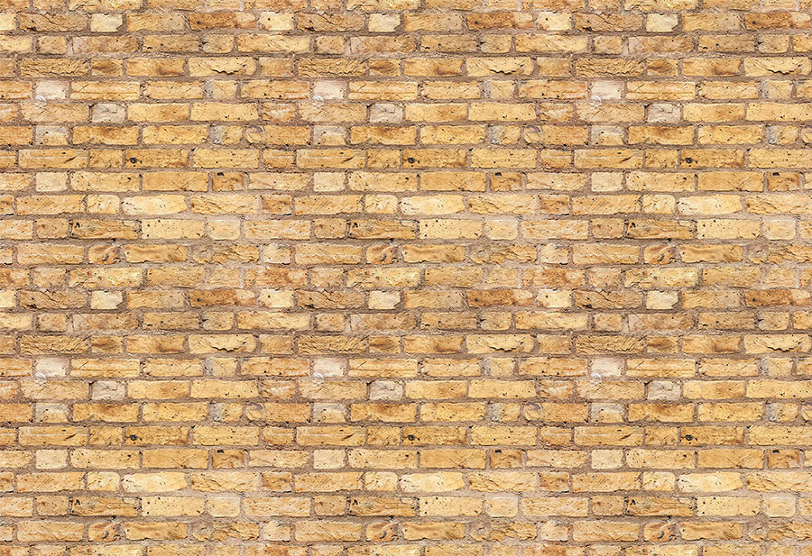 Yellow brick effect wallpaper wall mural design