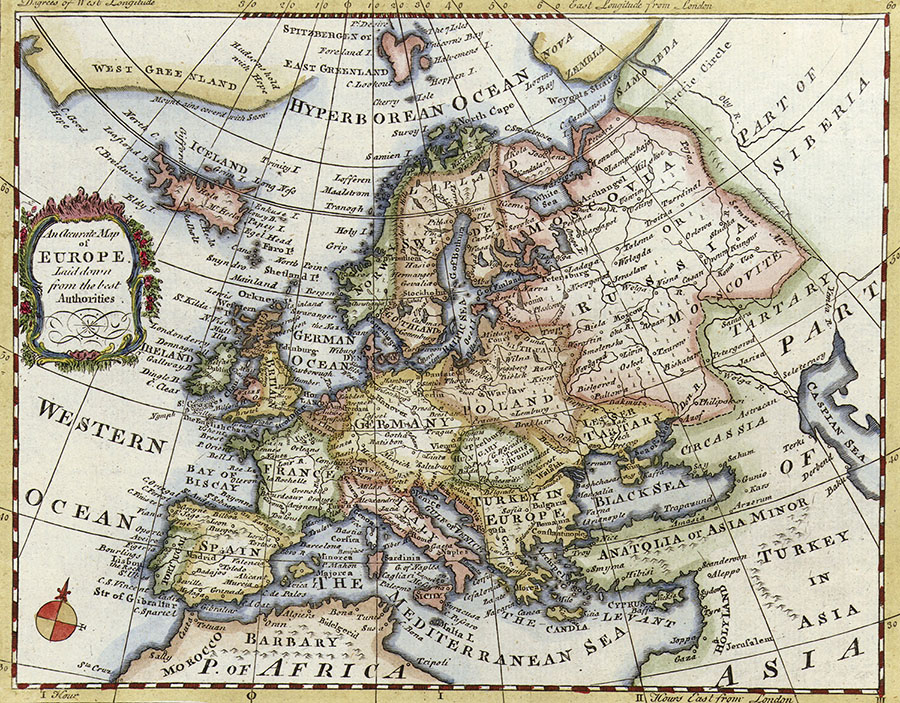 Historical Map Of Europe Wall Mural