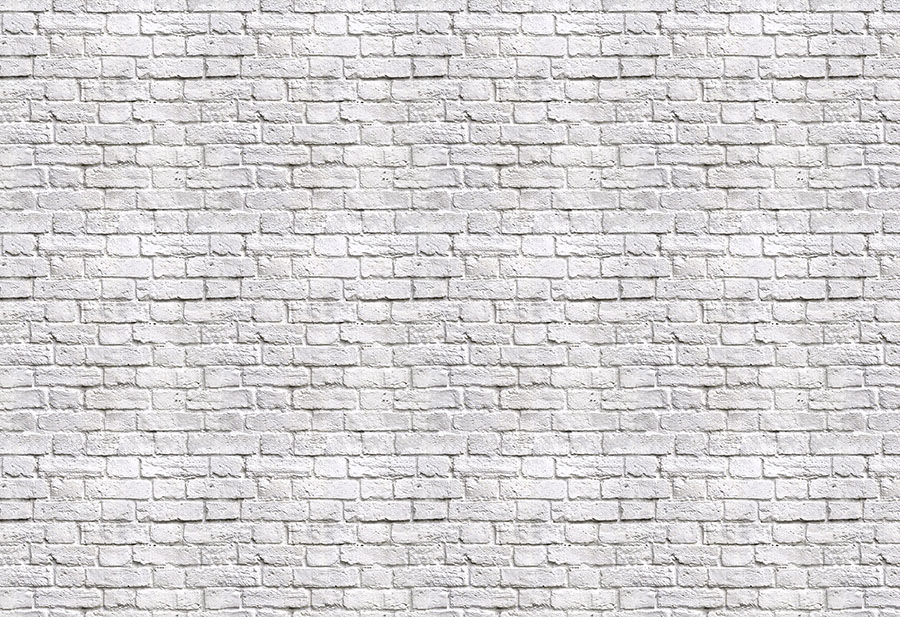 White Brick effect wallpaper wall mural design