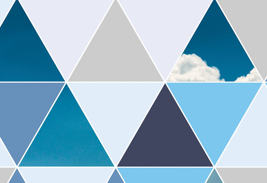 Triangle Sky Wallpaper Geometric Wall Murals Collection Wallpapered