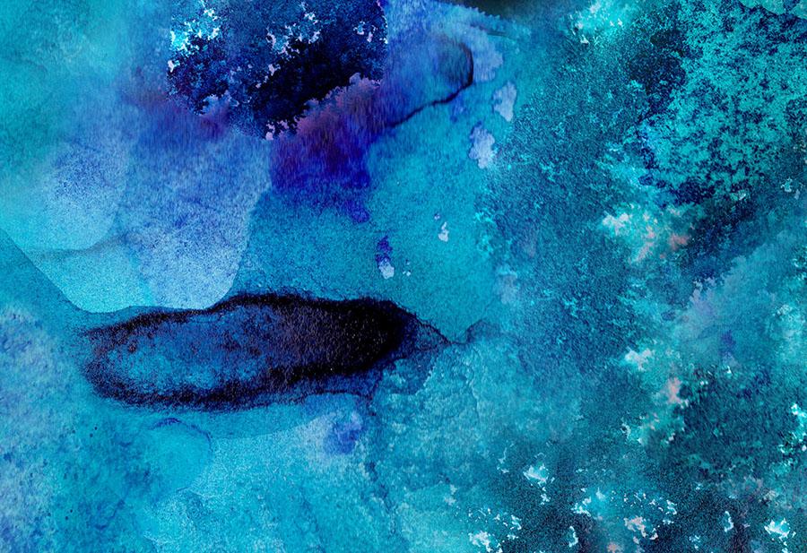 Blue abstract azure wallpaper wall mural design