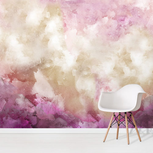 Magic Quartz Wallpaper Mural in situ with white chair