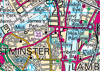 OS Landranger Map example detail view