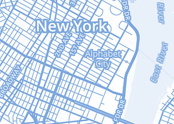 New York Map Wallpaper Example