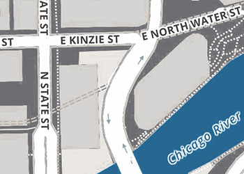 Close up view of Chicago Map Example