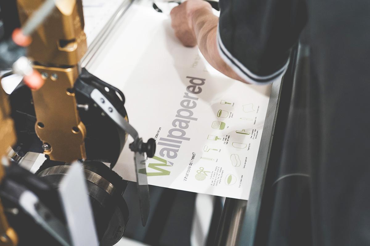 Wallpapered printer printing wallpaper