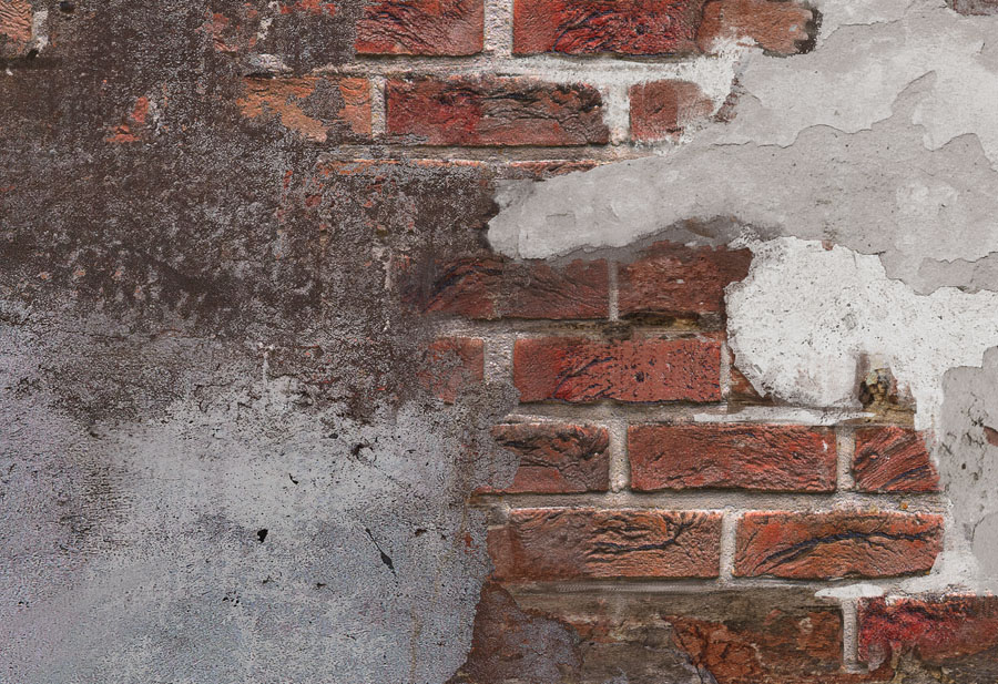 Concrete Brick Wall Mural close up view