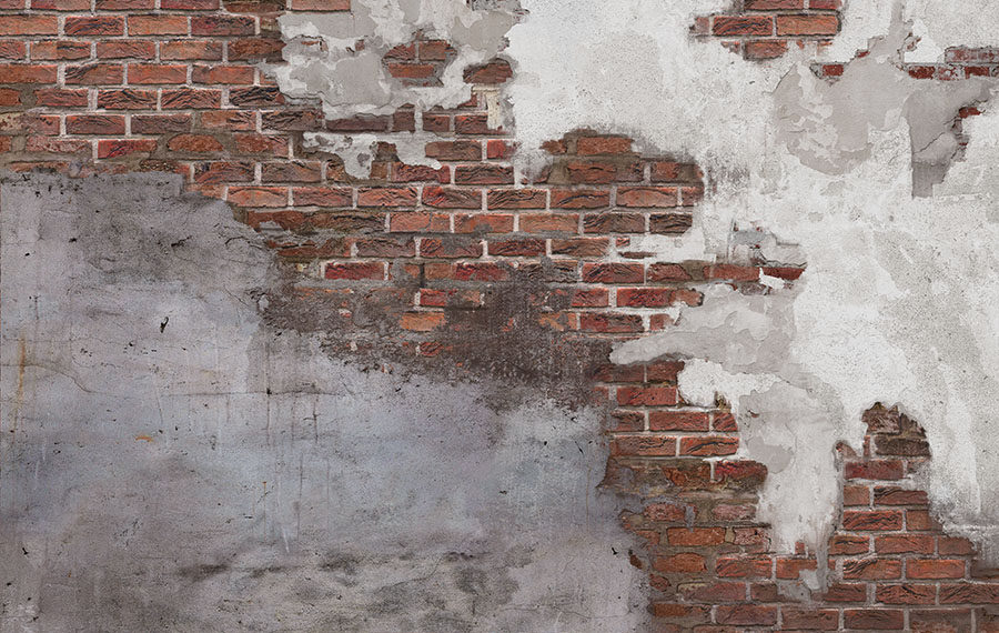 Concrete Brick Wall Mural