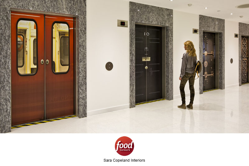 Food Network Lift Doors Wall Murals