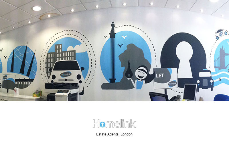 Estate Agent Wall Mural
