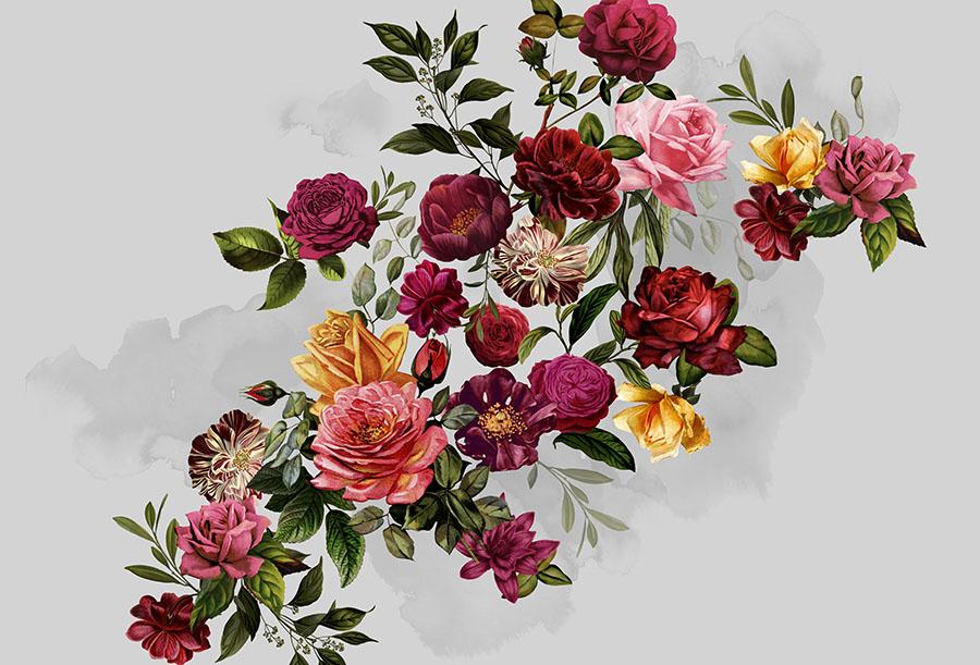 Velvet Roses Wallpaper Mural