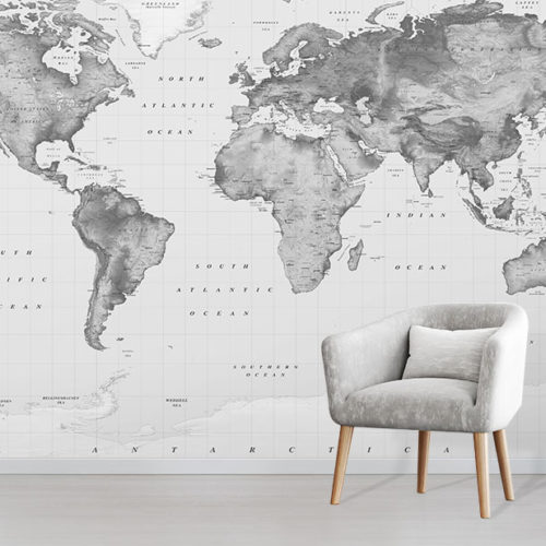 World Map Wallpaper • Wallpapered