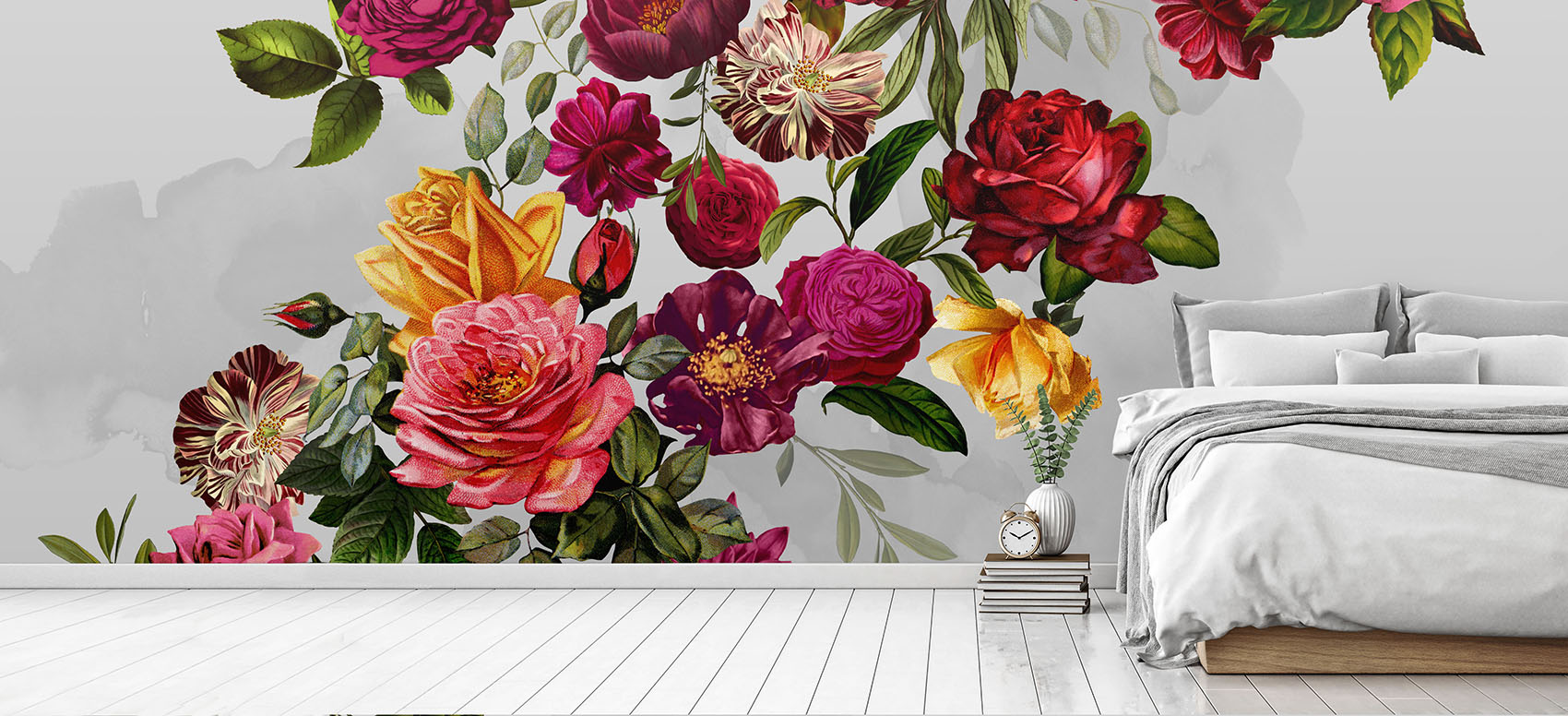 Velvet Roses Bedroom Wallpaper
