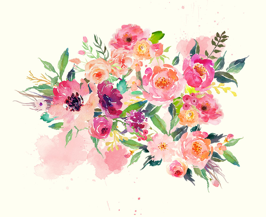 Spring Bouquet Wall Mural