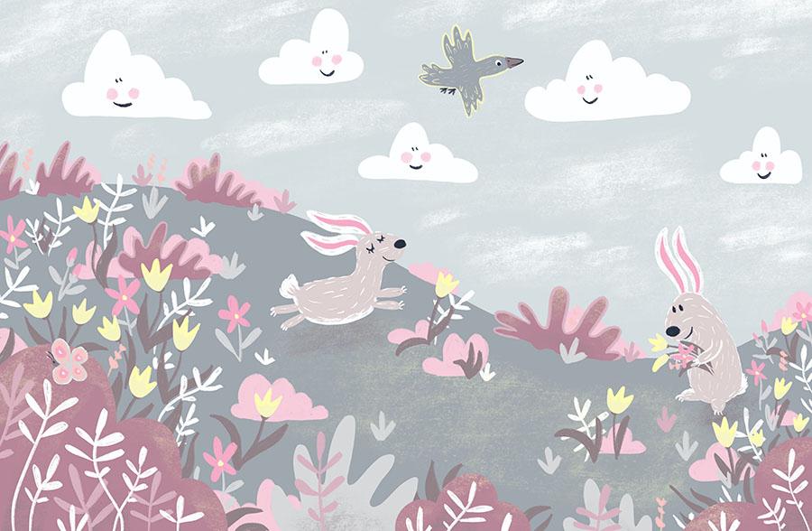 Happy Bunnies Wallpaper