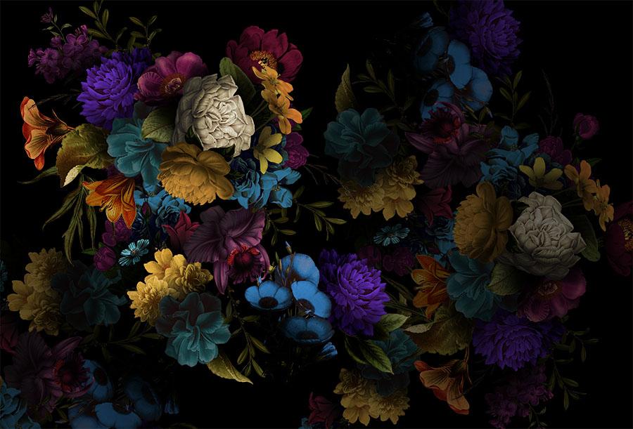 Dark Neon Floral