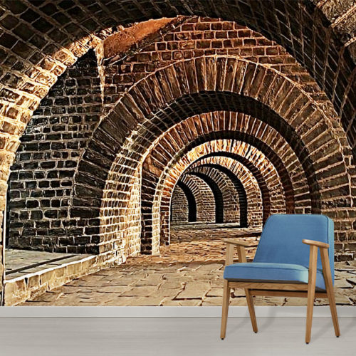Brick Tunnel Wall Mural