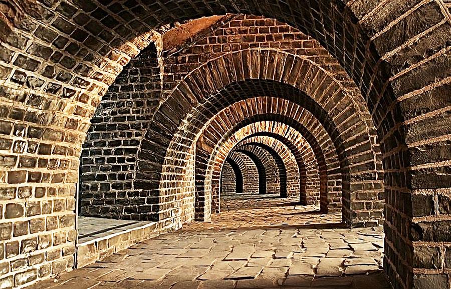 Brick Tunnel Wall Mural