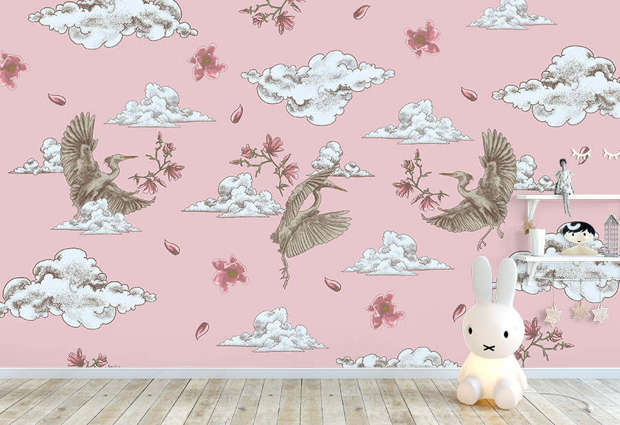 Polly Clouds Wallpaper Mural