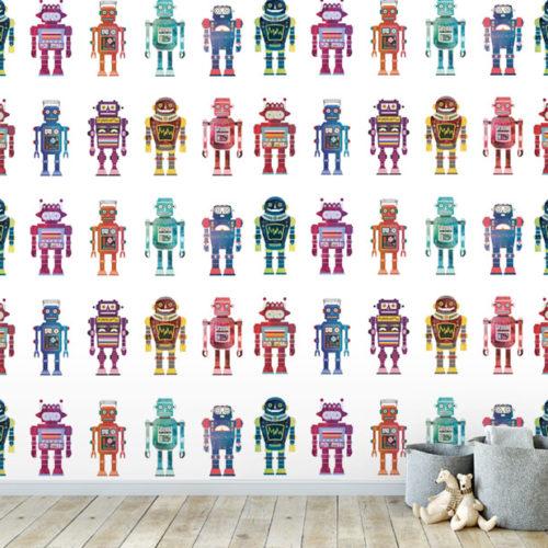 Electric Robots Wallpaper