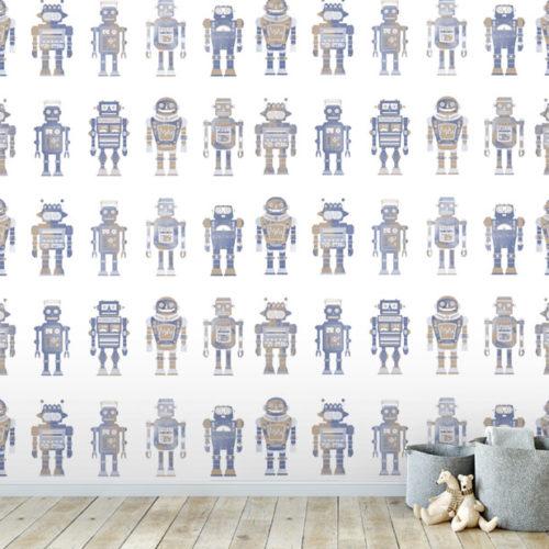 Vintage Robots wallpaper