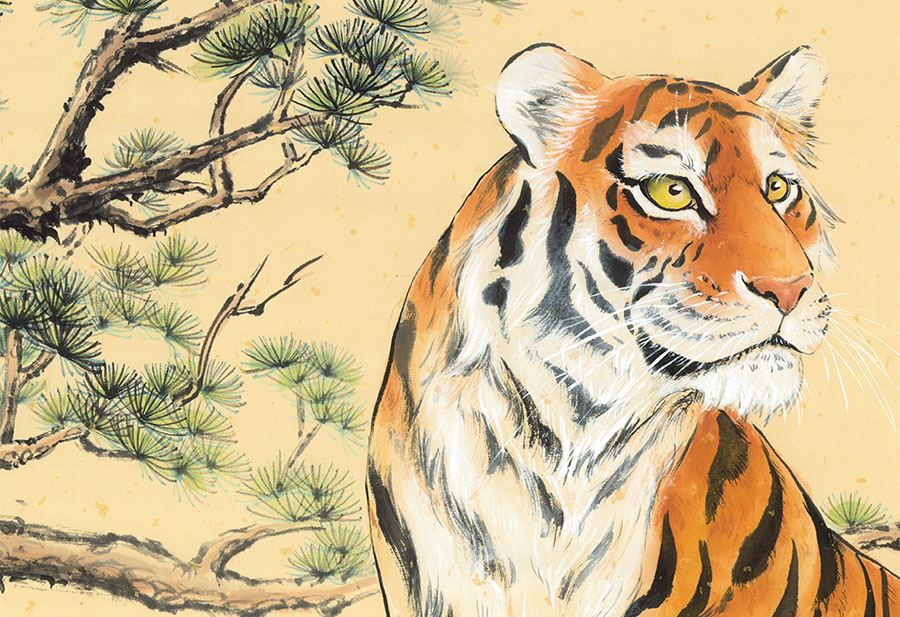 Wild Tiger Content - Nikole Lowe Wallpaper Collection