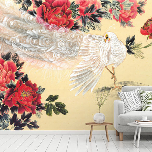Peacock and The Peony - Nikole Lowe Wallpaper Collection